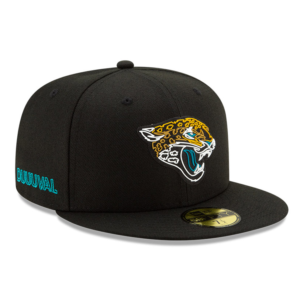 Gorra Jacksonville Jaguars NFL20 Draft 59FIFTY, negro