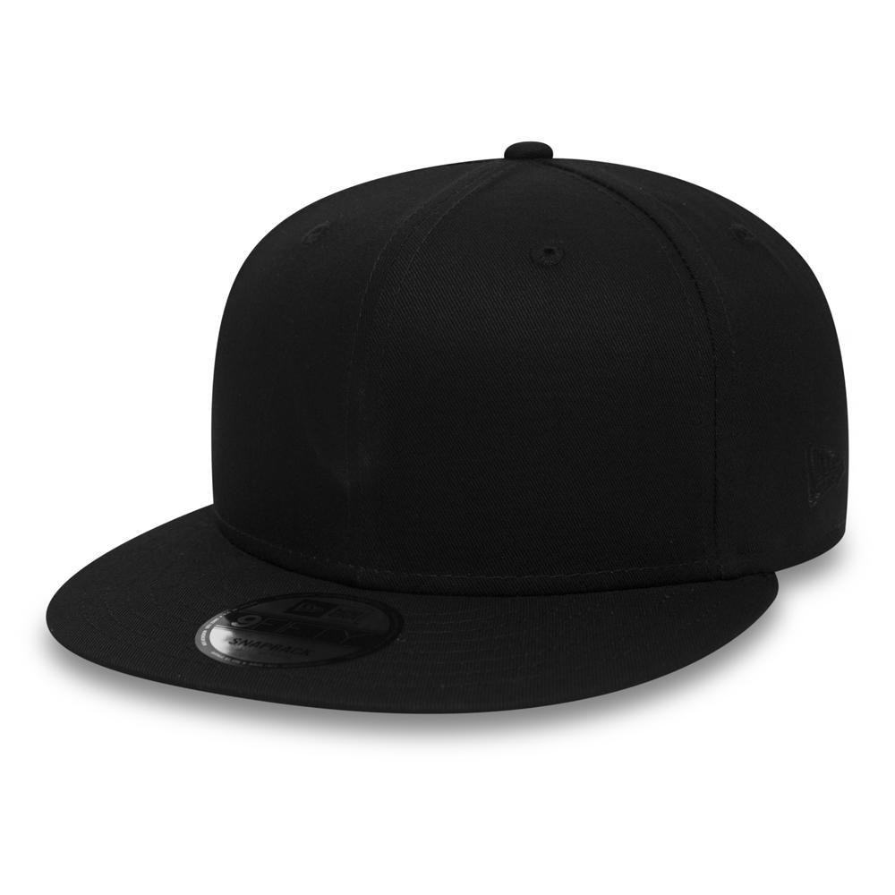 bb849eb9713d1 New Era Cotton 9FIFTY Black on Black Snapback