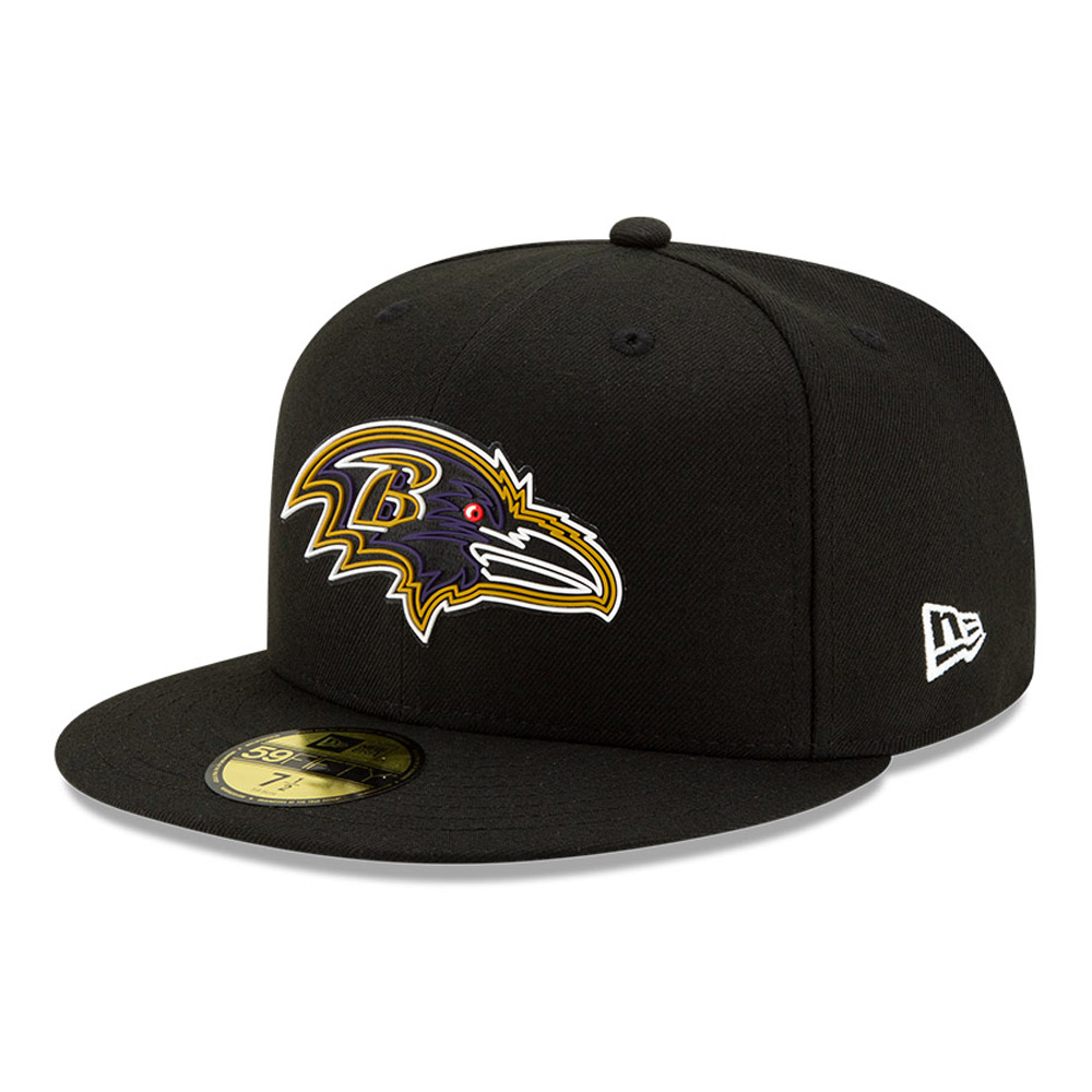 Baltimore Ravens NFL20 Draft Black 59FIFTY-Kappe