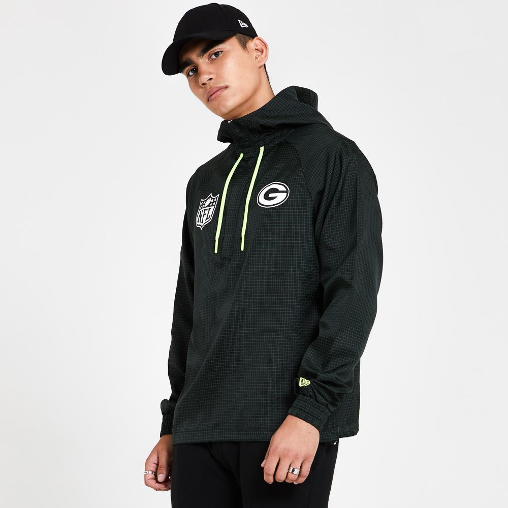 Green Bay Packers Black Windbreaker Jacket
