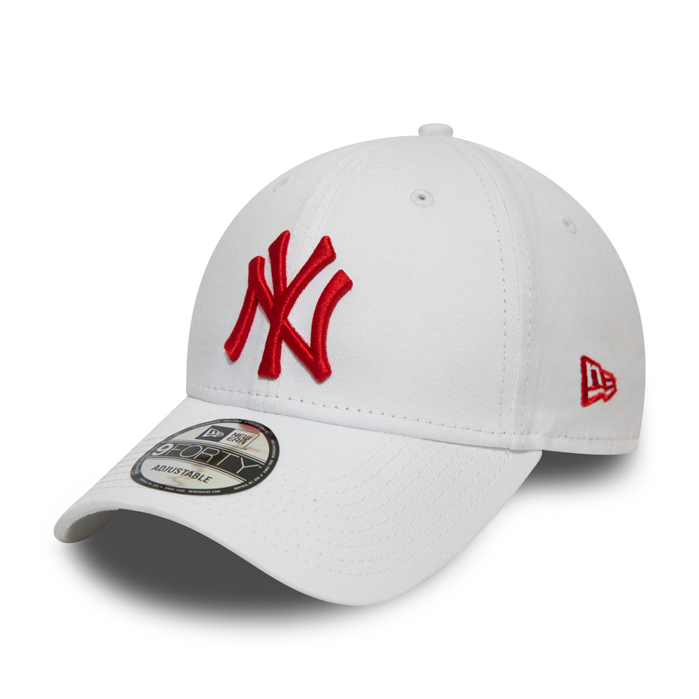 New York Yankees Essential Red Logo White 9FORTY Cap