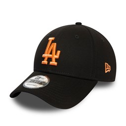 Los Angeles Dodgers Womens Peach Logo Black 9FORTY Cap