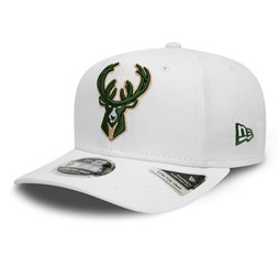 Milwaukee Bucks White Base Stretch Snap 9FIFTY Cap