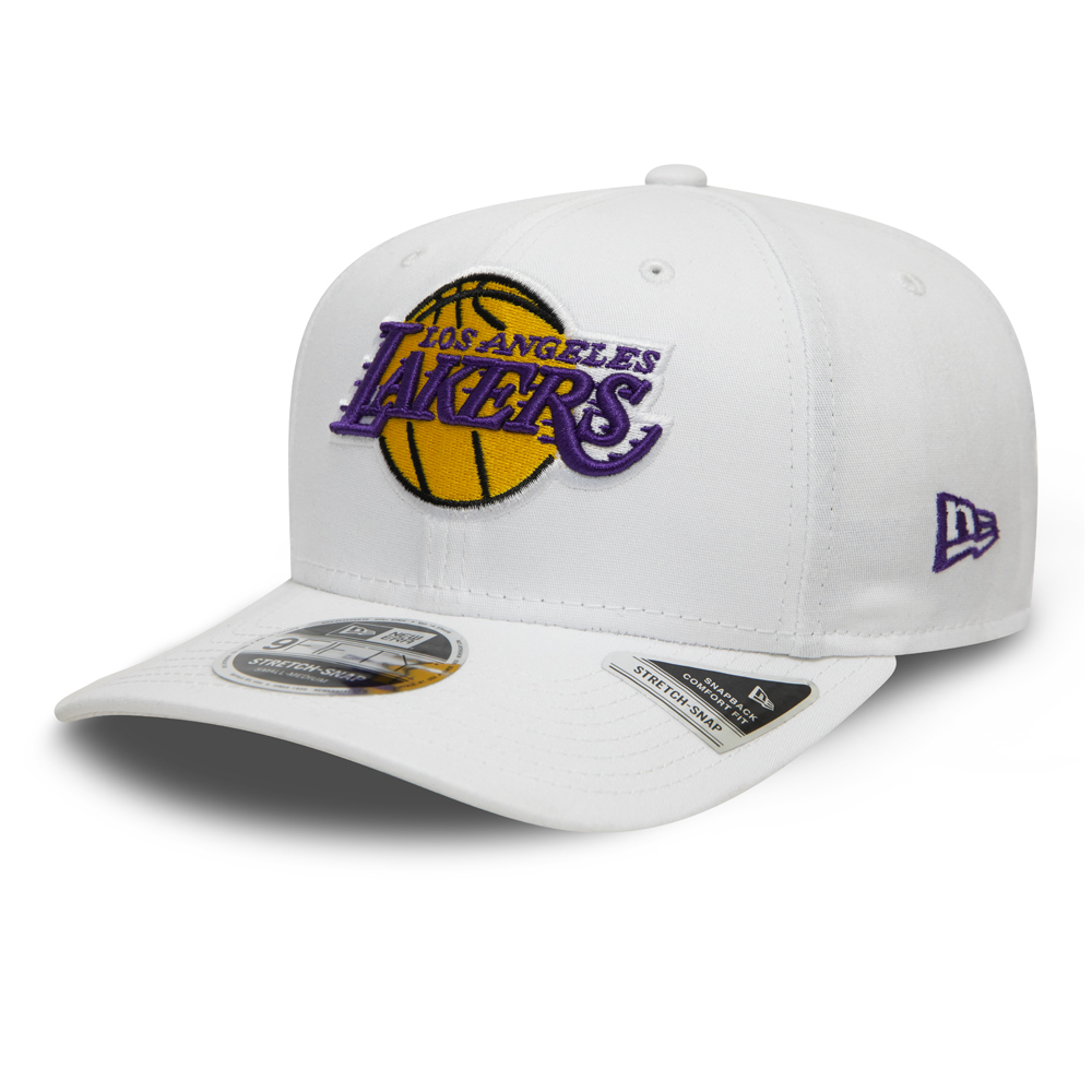 Los Angeles Lakers White Base Stretch Snap 9FIFTY Cap