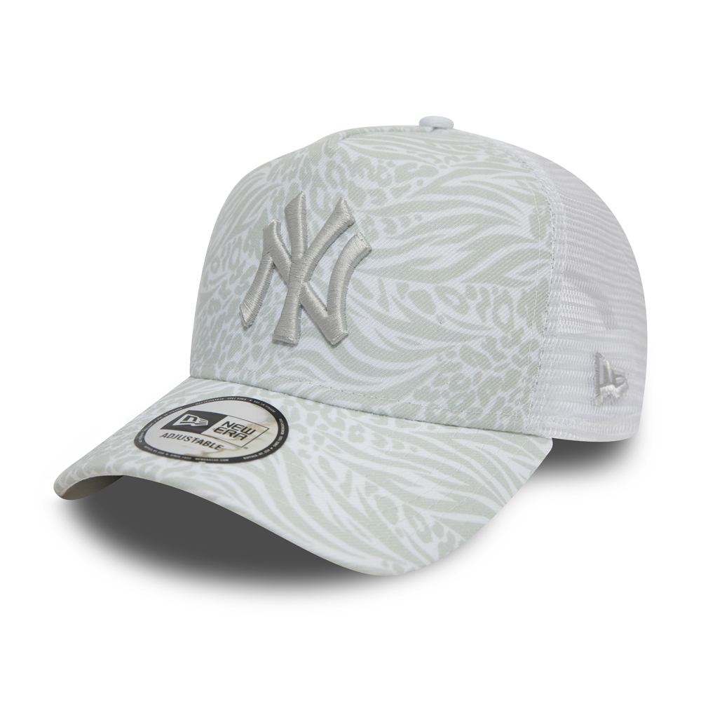 Gorra trucker New York Yankees Hook All Over Print, blanco