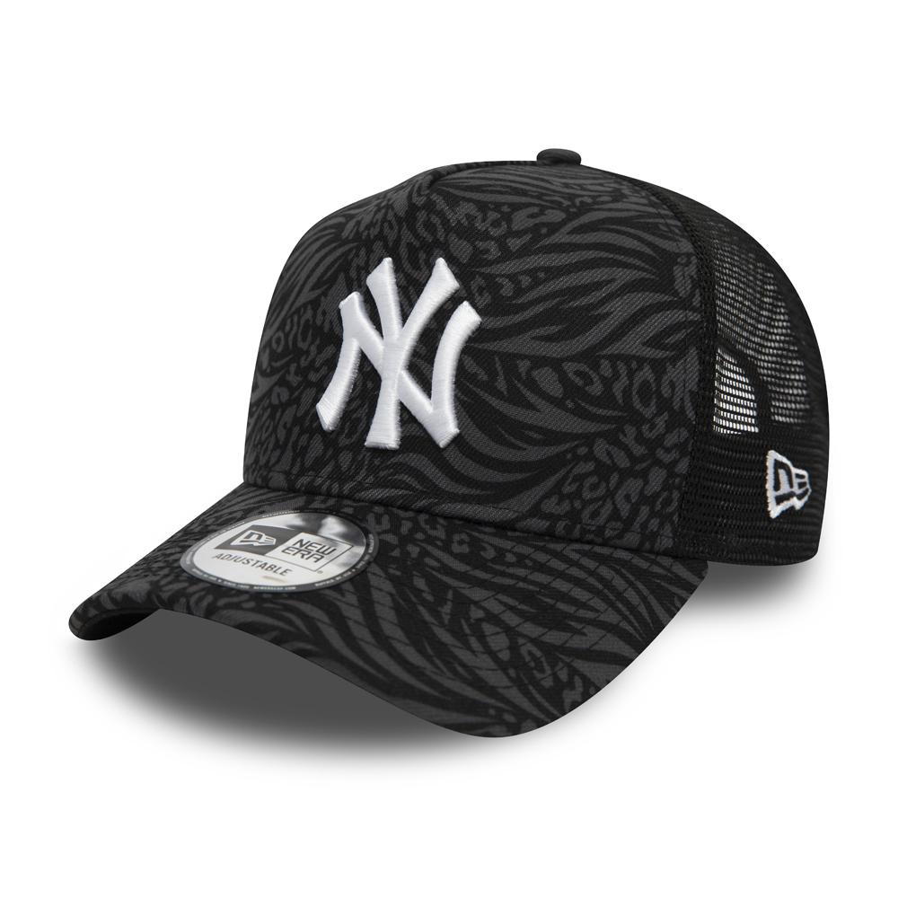 Casquette Trucker Hook All Over Print New York Yankees, noir