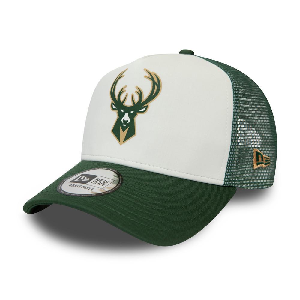 """Truckerkappe der Milwaukee Bucks aus der """"Team Colour Block""""-Kollektion in Weiß"""