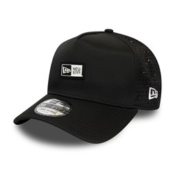 Gorra trucker New Era Logo Patch A-Frame, negro