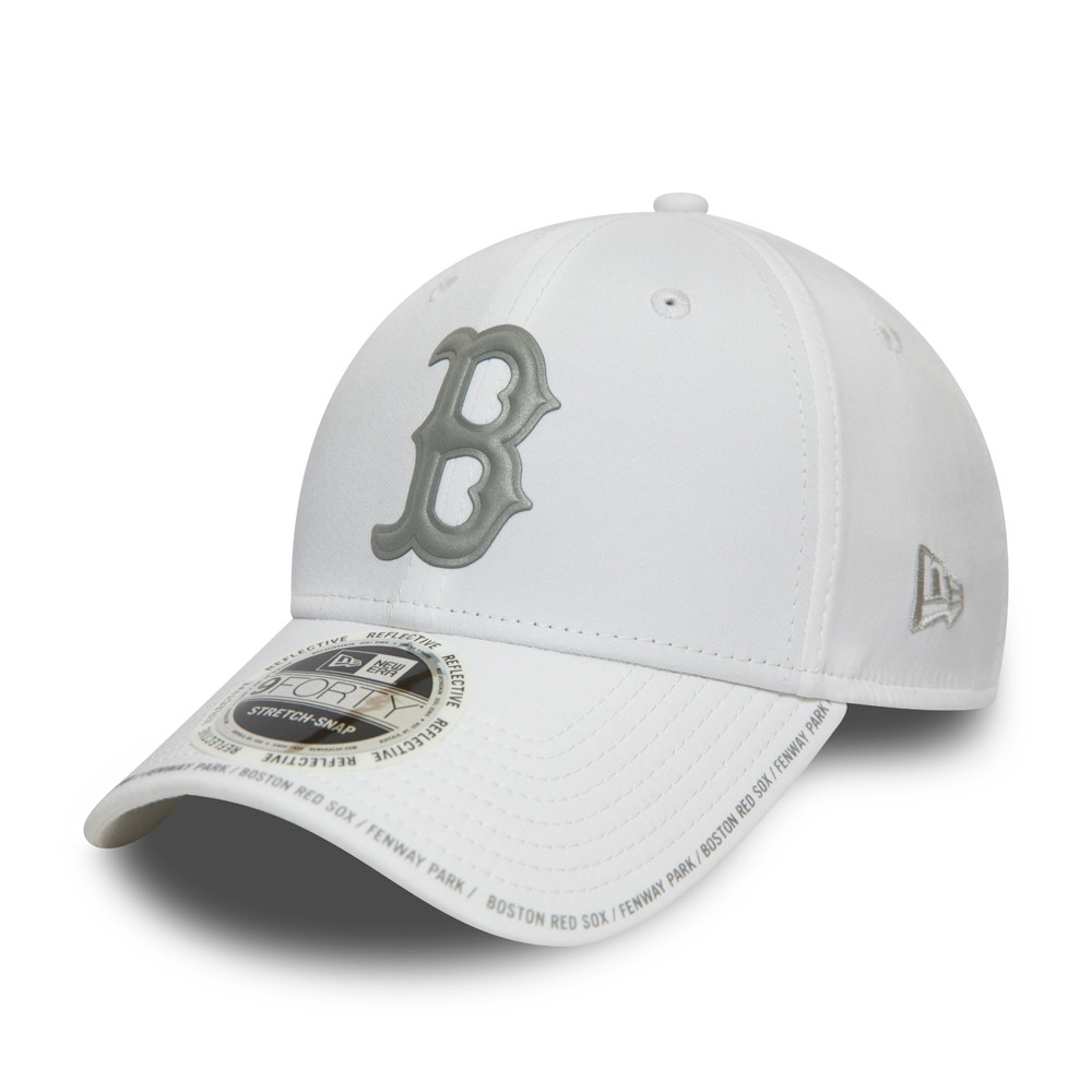 Boston Red Sox Reflective Performance Stretch Snap 9FORTY Cap