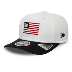 New Era Flagged White Stretch Snap 9FIFTY Cap