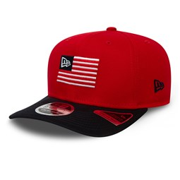 New Era Flagged Red Stretch Snap 9FIFTY Cap