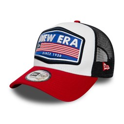 New Era USA Patch White Contrast Trucker