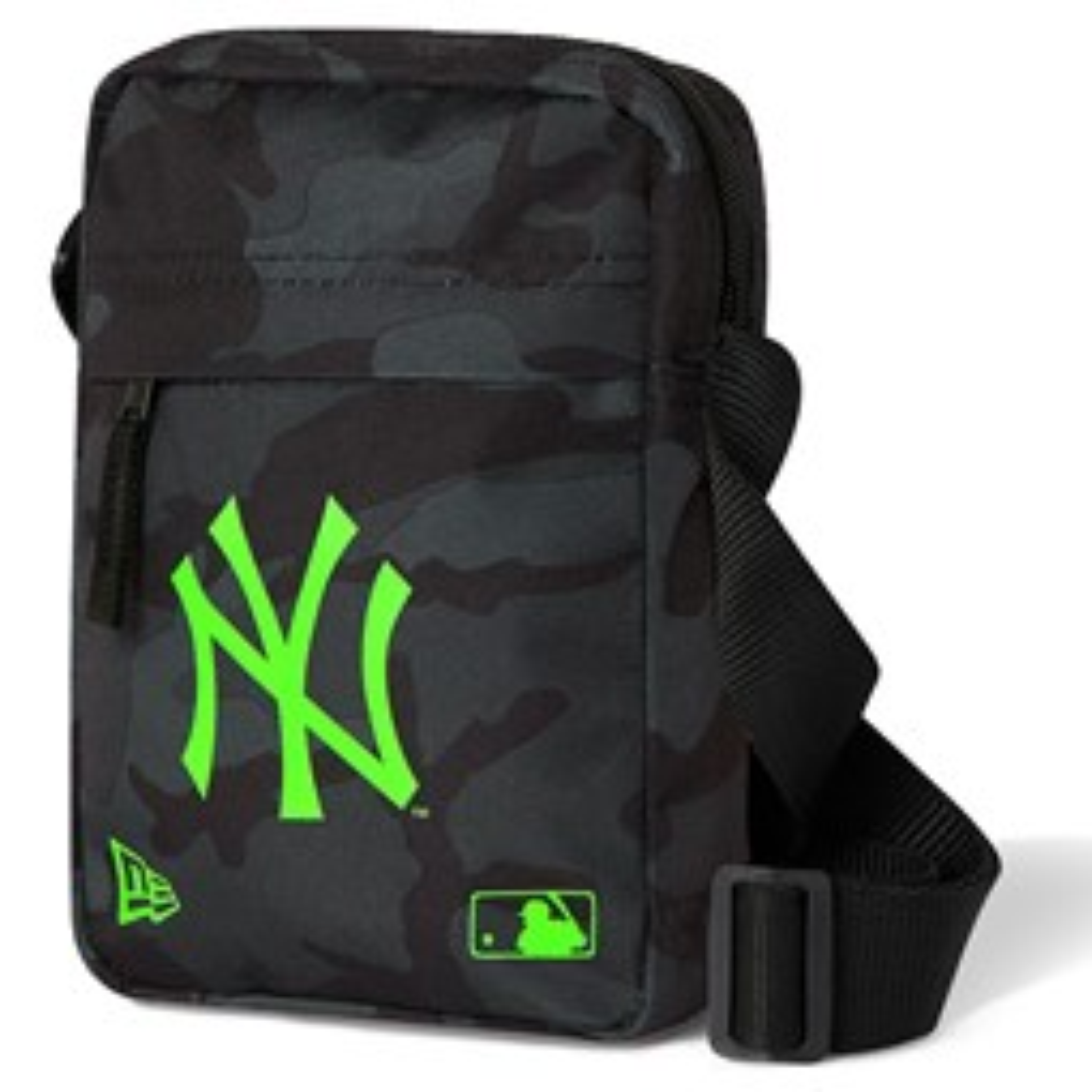 New York Yankees Neon Logo Black Camo Side Bag