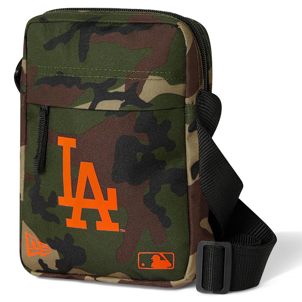 Bolso bandolera Los Angeles Dodgers Neon Logo, camo