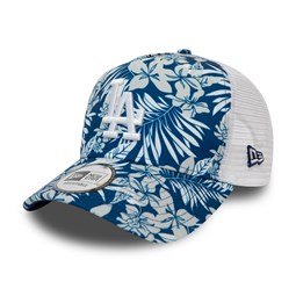 Los Angeles Dodgers Floral Print Blue Trucker