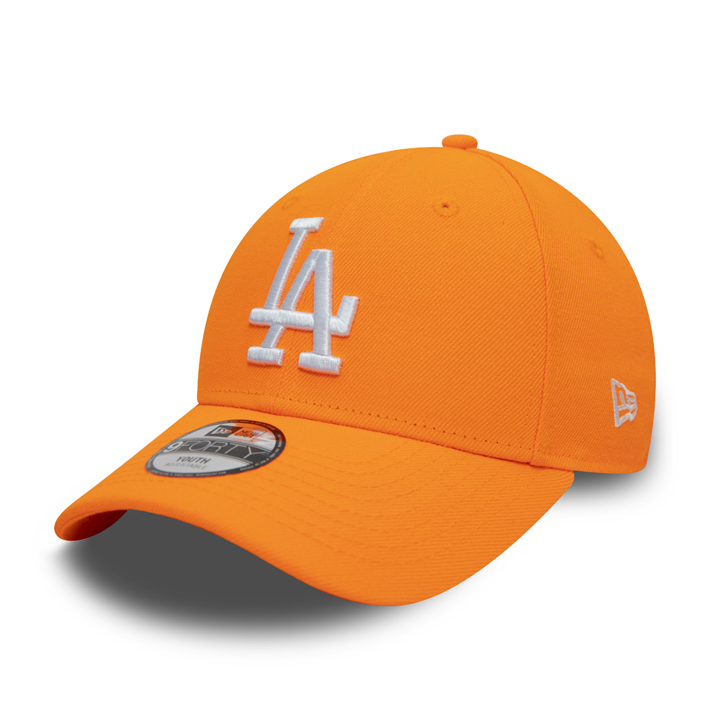 Casquette 9FORTY des Los Angeles Dodgers, orange fluo, enfant