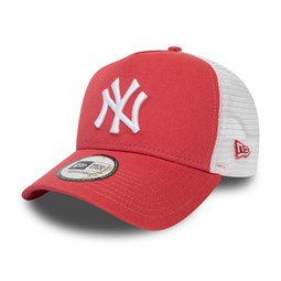 Gorra trucker New York Yankees Essential, coral
