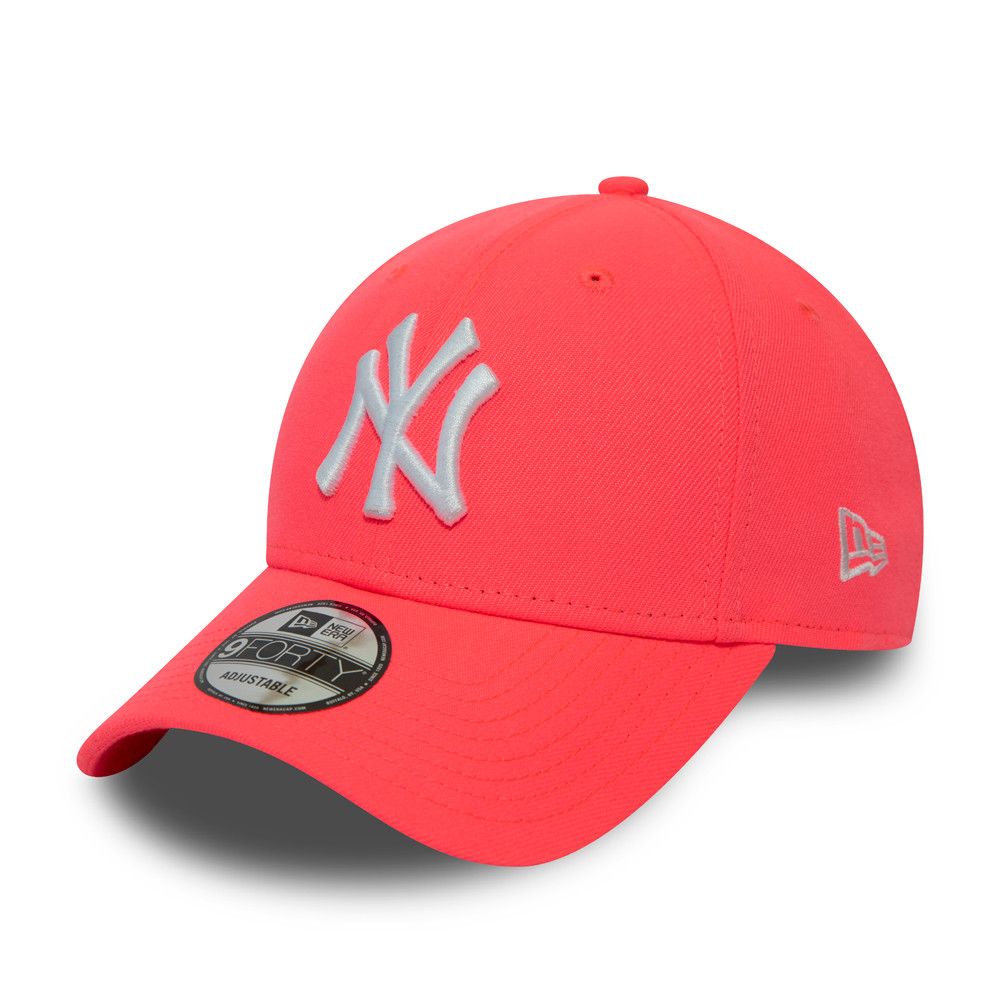 Casquette 9FORTY New York Yankees, rose fluo