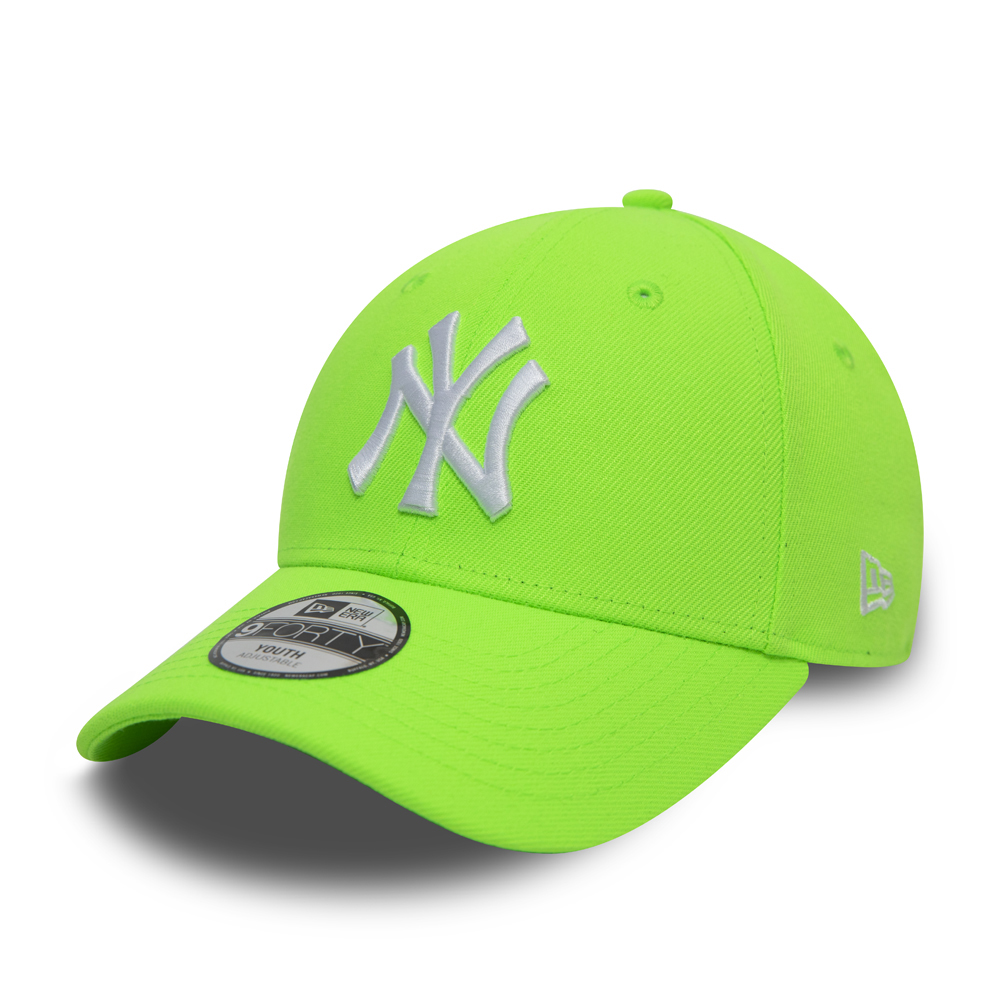 Casquette New York Yankees 9FORTY enfant, vert fluo