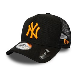 "New York Yankees – ""Diamond Era"" Trucker-Kappe mit Logo in Neonfarben"
