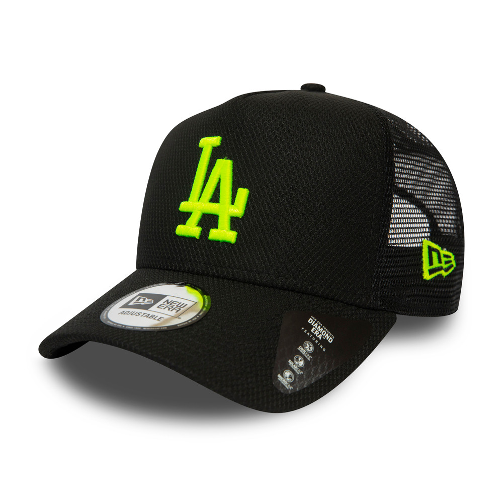 Los Angeles Dodgers Neon Logo Black Trucker