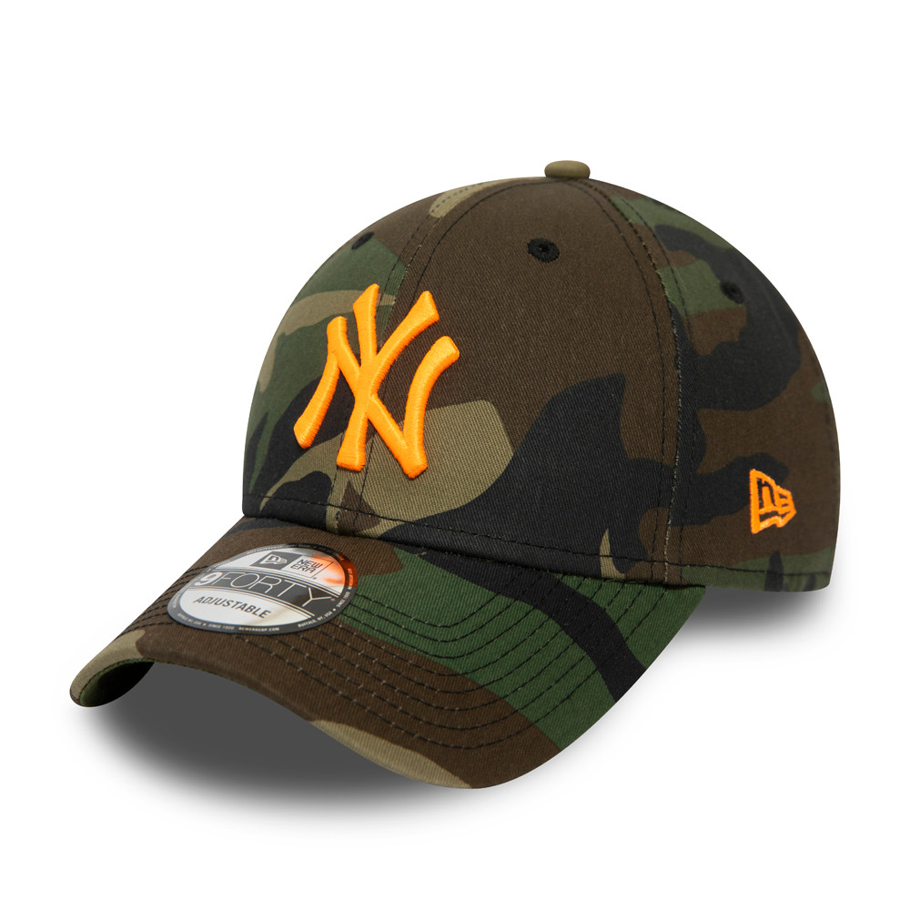 Casquette 9FORTY Logo Fluo New York Yankees, camouflage