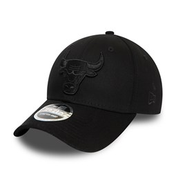 Chicago Bulls All Black Stretch Snap 9FORTY Cap