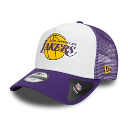 Los Angeles Lakers Team Colour Block Kids White Trucker