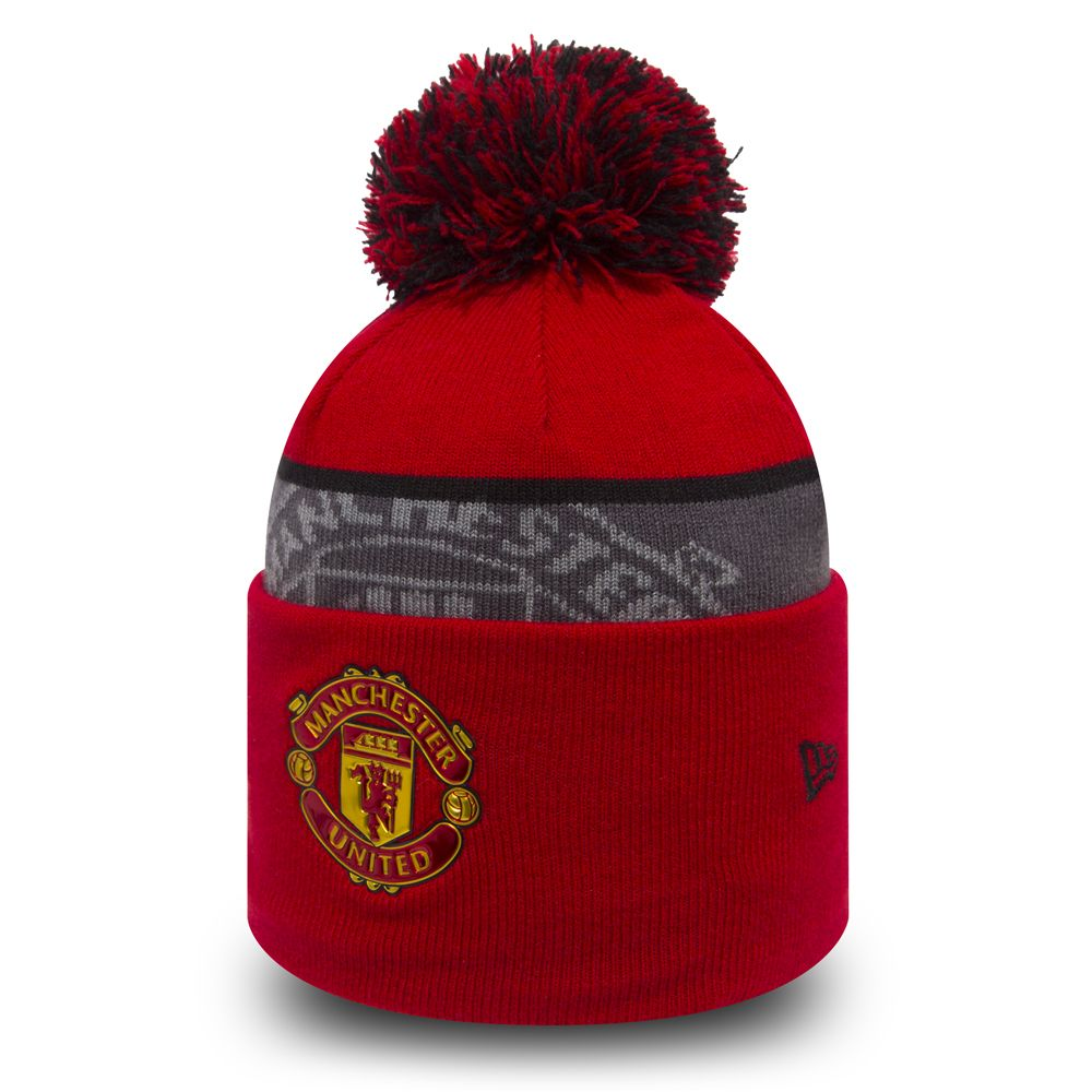 Manchester United Crown Crest Red Knit