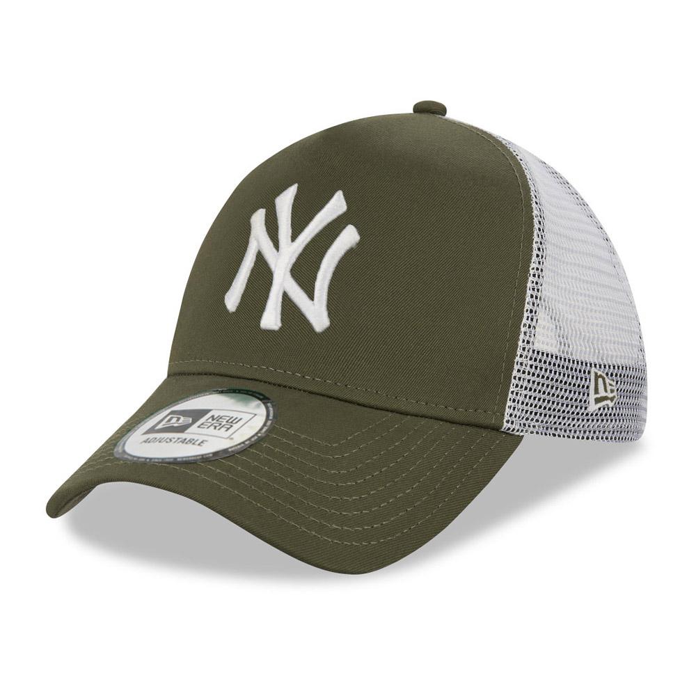 New York Yankees Khaki A-Frame Trucker