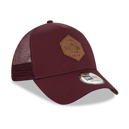 New Era Patch Maroon A Frame Trucker