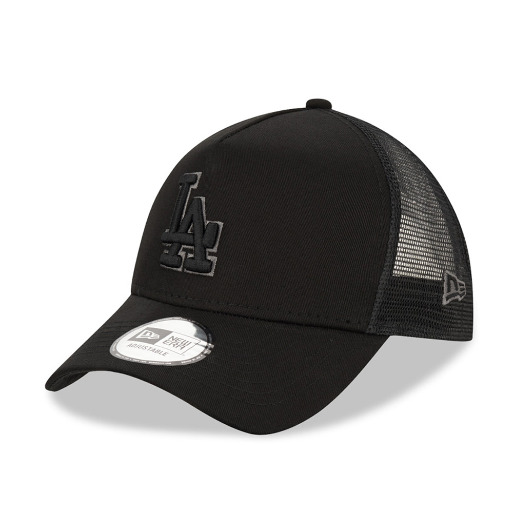 Cappellino Trucker A-Frame LA Dodgers nero tono su tono