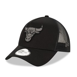 Chicago Bulls Tonal Black A Frame Trucker