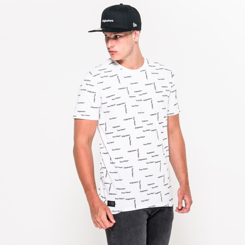 New Era Originators – Bedrucktes T-Shirt in Weiß