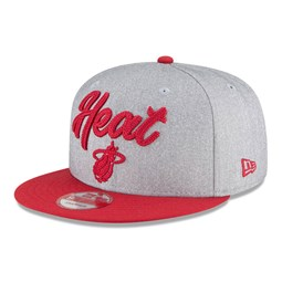 Gorra Miami Heat NBA Draft 9FIFTY gris