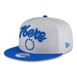 Gorra Philadelphia 76ERS NBA Draft 9FIFTY gris