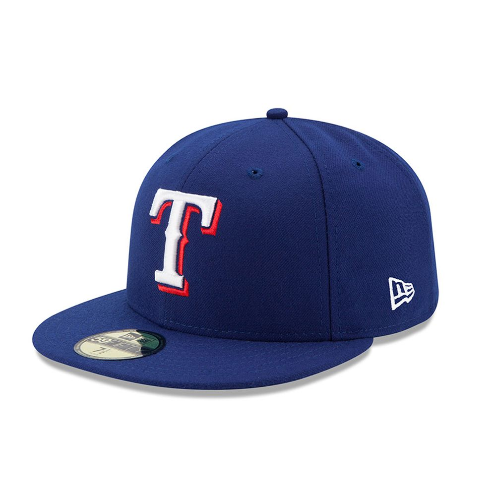 10a63d344ed7e Texas Rangers Authentic On-Field Game Blue 59FIFTY