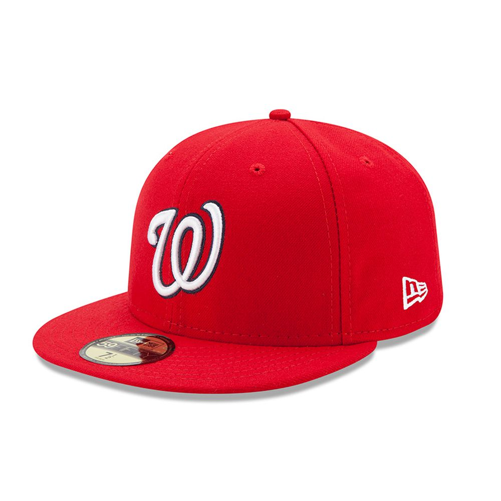 Washington Nationals Authentic On-Field Game 59FIFTY rouge