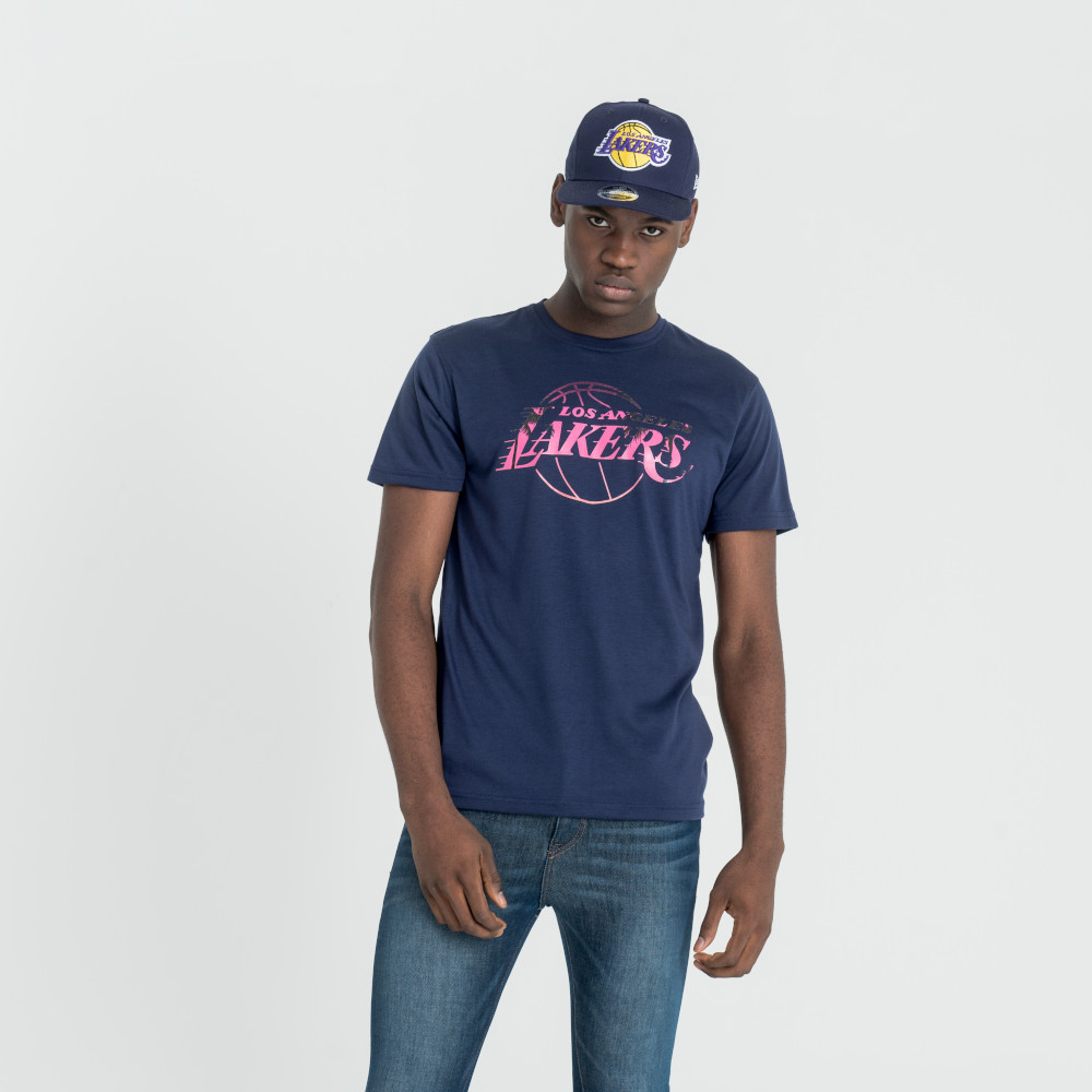 T-shirt stampata NBA Summer city dei LA Lakers viola