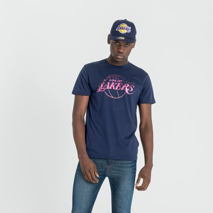 LA Lakers NBA Summer City Print Purple T-Shirt