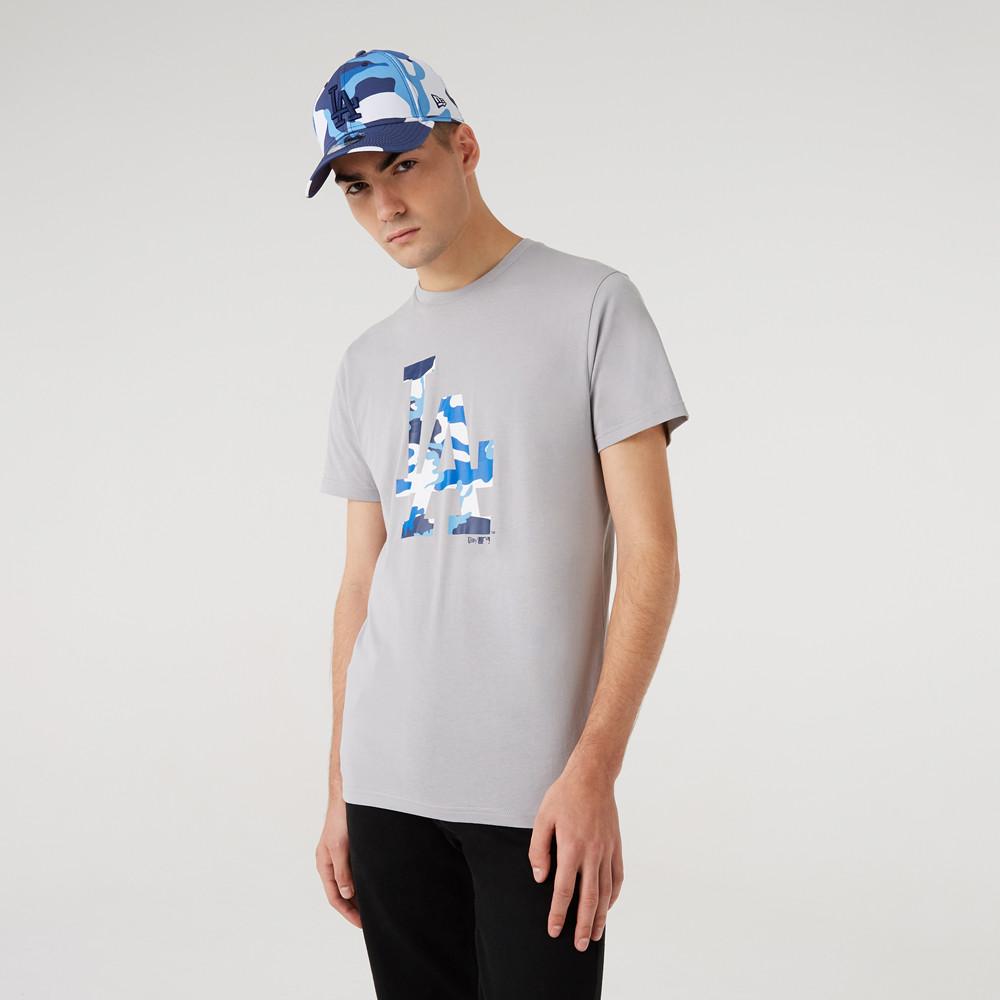 T-shirt logo camouflageLA DodgersMLB, gris