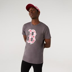 T-shirt MLB Camo Logo dei Boston Red Sox grigia