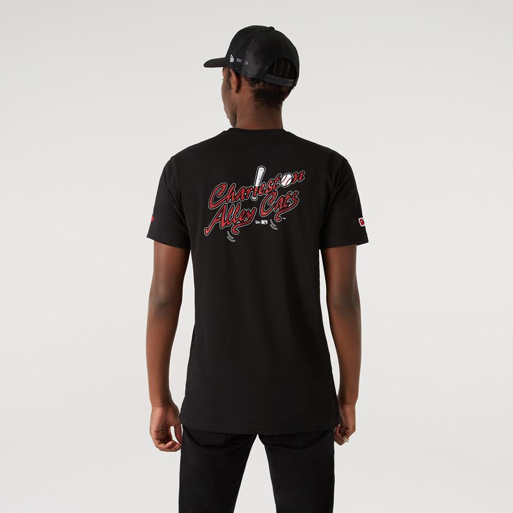 T-shirt Charleston Alley Cats MiLB Graphic Noir