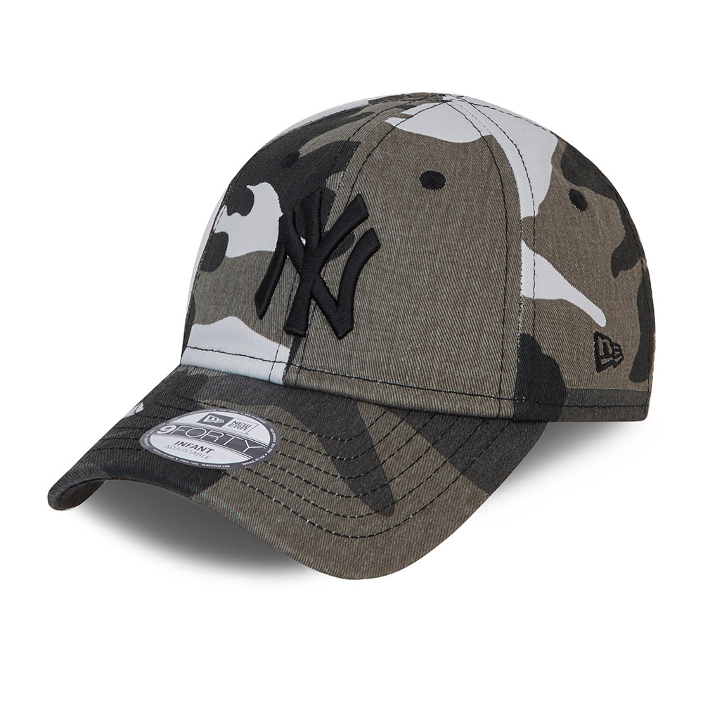 Casquette camouflage 9FORTYNew York Yankees nourrisson, gris