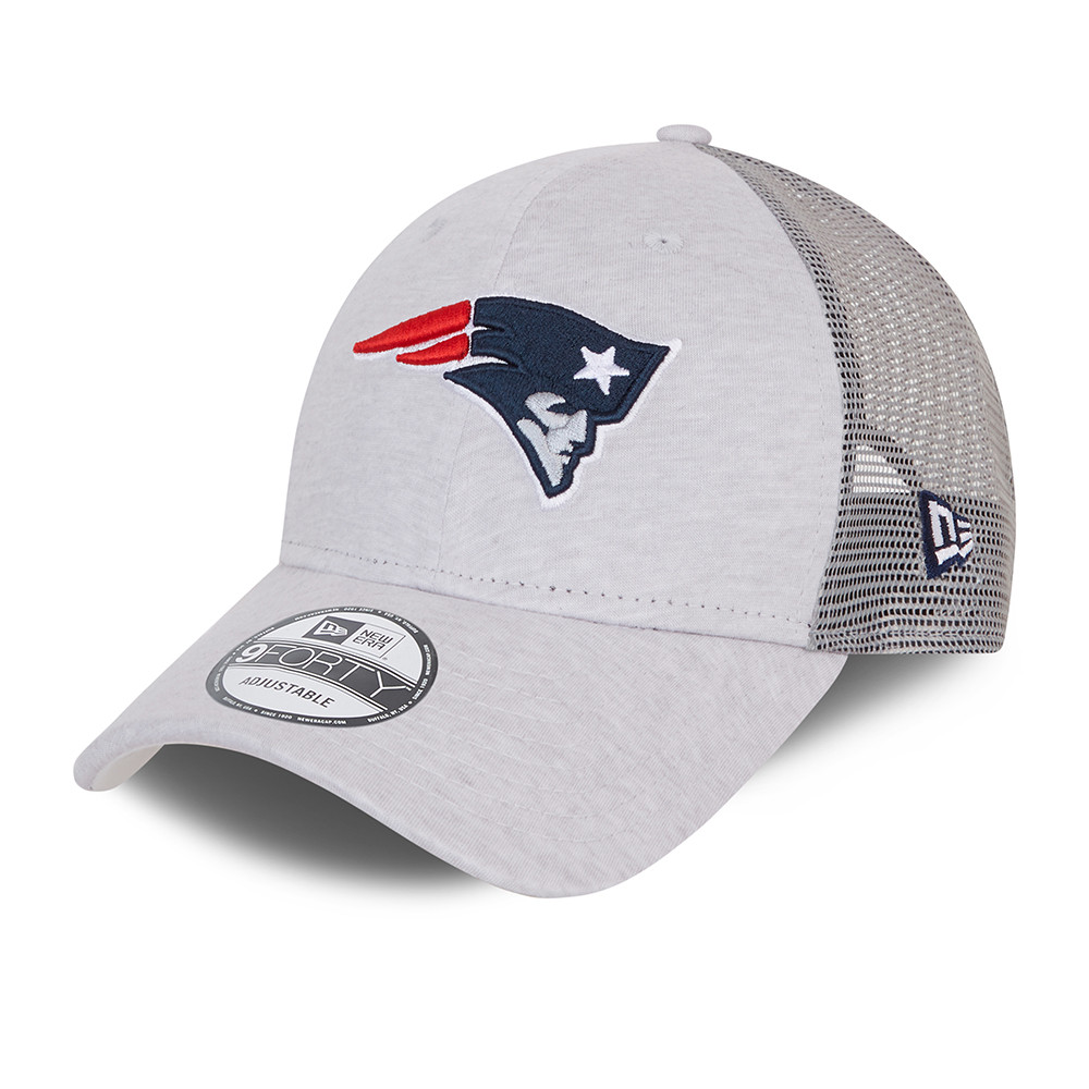 Casquette Trucker 9FORTY New England Patriots Home Field, grise