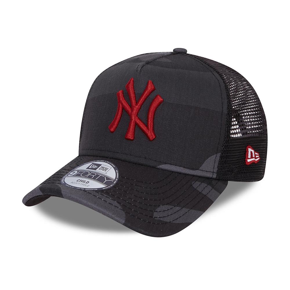 Casquette Trucker 9FORTY City Camo des New York Yankees pour enfant, gris