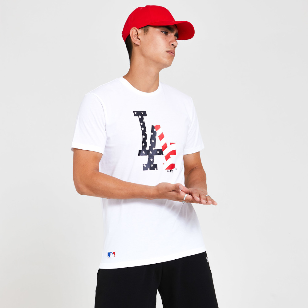 LA Dodgers Team Logo White T-Shirt