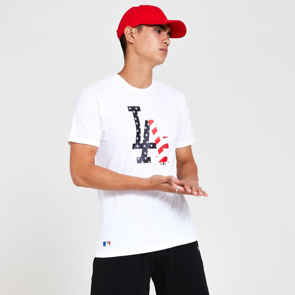 T-shirt con logo LA Dodgers Team bianca