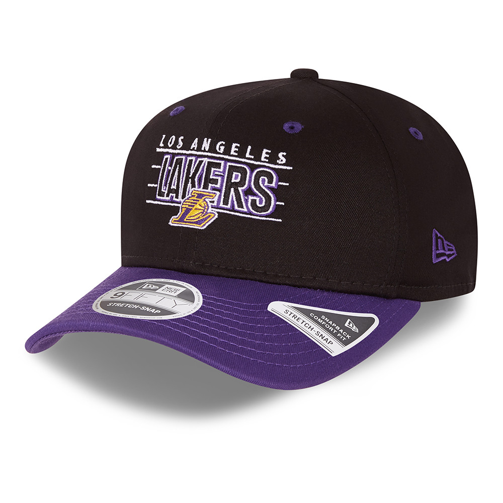 LA Lakers NBA Team Black 9FIFTY Stretch Snap Cap