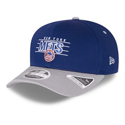 9FIFTY – New York Mets – Wordmark – Stretchkappe in Blau mit Clipverschluss